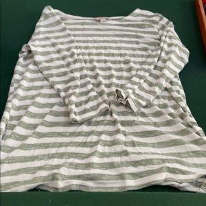3/4 sleeve striped tunic